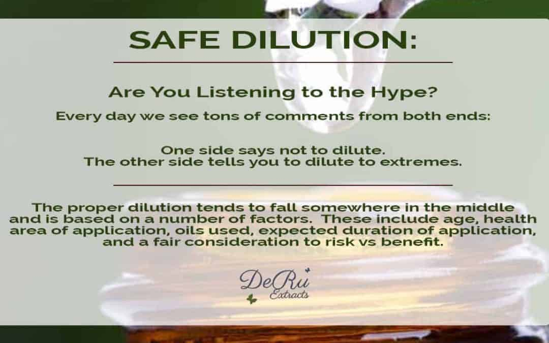 Safe Dilution and Our Essential Oils
